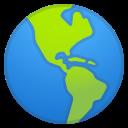 Android Pie; U+1F30E; Emoji
