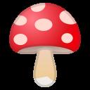Android Pie; U+1F344; Pilz Emoji