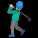 Android Pie; U+1F3CC U+1F3FC U+200D U+2642 U+FE0F; Emoji