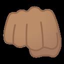 Android Pie; U+1F44A U+1F3FD; Emoji