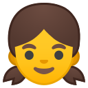 Android Pie; U+1F467; Emoji