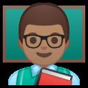 Android Pie; U+1F468 U+1F3FD U+200D U+1F3EB; Emoji