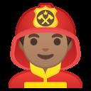 Android Pie; U+1F468 U+1F3FD U+200D U+1F692; Emoji