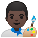Android Pie; U+1F468 U+1F3FF U+200D U+1F3A8; Emoji