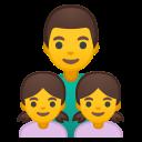 Android Pie; U+1F468 U+200D U+1F467 U+200D U+1F467; Emoji