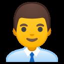 Android Pie; U+1F468 U+200D U+1F4BC; Emoji