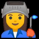 Android Pie; U+1F469 U+200D U+1F3ED; Emoji