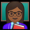 Android Pie; U+1F469 U+1F3FE U+200D U+1F3EB; Emoji