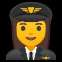 Android Pie; U+1F469 U+200D U+2708 U+FE0F; Emoji