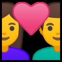 Android Pie; U+1F469 U+200D U+2764 U+FE0F U+200D U+1F468; Emoji