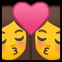 Android Pie; U+1F469 U+200D U+2764 U+FE0F U+200D U+1F48B U+200D U+1F469; Emoji