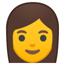 Android Pie; U+1F469; Emoji