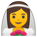 Android Pie; U+1F470; Emoji