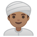 Android Pie; U+1F473 U+1F3FD U+200D U+2642 U+FE0F; Emoji