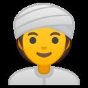 Android Pie; U+1F473 U+200D U+2640 U+FE0F; Emoji