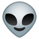 Android Pie; U+1F47D; Alien Emoji