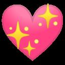 Android Pie; U+1F496; Emoji