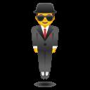 Android Pie; U+1F574 U+FE0F; Emoji