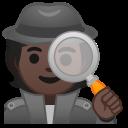 Android Pie; U+1F575 U+1F3FF; Emoji