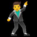 Android Pie; U+1F57A; Emoji
