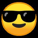 Android Pie; U+1F60E; Emoji