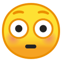 Android Pie; U+1F633; Emoji
