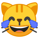 Android Pie; U+1F639; Emoji