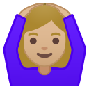 Android Pie; U+1F646 U+1F3FC U+200D U+2640 U+FE0F; Emoji