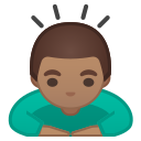 Android Pie; U+1F647 U+1F3FD U+200D U+2642 U+FE0F; Emoji