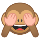 Android Pie; U+1F648; Emoji