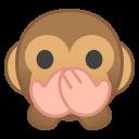 Android Pie; U+1F64A; Emoji