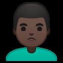 Android Pie; U+1F64E U+1F3FF U+200D U+2642 U+FE0F; Emoji