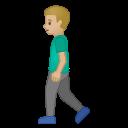 Android Pie; U+1F6B6 U+1F3FC U+200D U+2642 U+FE0F; Emoji