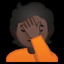Android Pie; U+1F926 U+1F3FF; Emoji