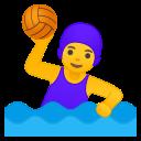 Android Pie; U+1F93D U+200D U+2640 U+FE0F; Emoji