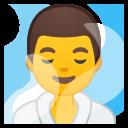 Google (Android 10); Homem No Banho De Vapor
