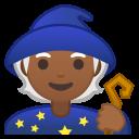 Android Pie; U+1F9D9 U+1F3FE; Emoji