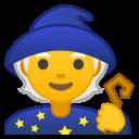 Android Pie; U+1F9D9; Mago (Persona) Emoji