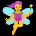 Android Pie; U+1F9DA U+200D U+2640 U+FE0F; Femme Fée Emoji