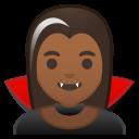 Android Pie; U+1F9DB U+1F3FE U+200D U+2640 U+FE0F; Emoji