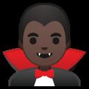 Android Pie; U+1F9DB U+1F3FF U+200D U+2642 U+FE0F; Homme Vampire: Peau 5 Emoji