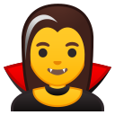 Android Pie; U+1F9DB U+200D U+2640 U+FE0F; Femme Vampire Emoji