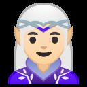 Android Pie; U+1F9DD U+1F3FB U+200D U+2640 U+FE0F; Elfina/Elfa: Color De Piel 1–2 Emoji