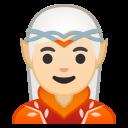 Android Pie; U+1F9DD U+1F3FB; Elfo(-a): Pele Clara Emoji