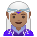 Android Pie; U+1F9DD U+1F3FD U+200D U+2640 U+FE0F; Femme Elfe: Peau 3 Emoji
