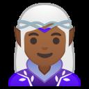 Android Pie; U+1F9DD U+1F3FE U+200D U+2640 U+FE0F; weiblicher Elfe: Hauttyp 5 Emoji
