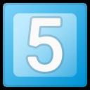 Android Pie; 5 U+FE0F U+20E3; Emoji