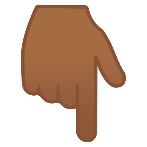 👇🏾 Backhand Index Pointing Down: Medium-dark Skin Tone Emoji