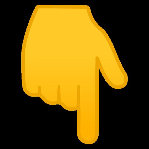 👇 Main Avec Index Pointant Vers Le Bas Emoji