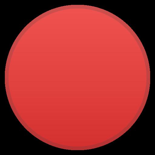 🔴 Círculo Rojo Grande Emoji